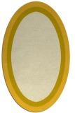 rug #112745 | oval yellow rug