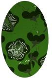 rug #1127515 | oval light-green rug