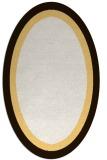 rug #112753 | oval plain brown rug