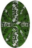 rug #1127555 | oval green abstract rug