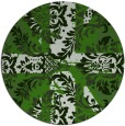 rug #1127563 | round green damask rug