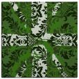 rug #1127571 | square green retro rug