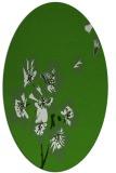 rug #1127575 | oval light-green rug