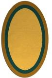 rug #112761 | oval plain light-orange rug