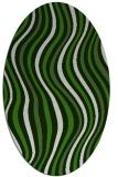 rug #1127655 | oval light-green popular rug