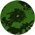 rug #1127703 | round green abstract rug