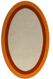 rug #112773 | oval orange borders rug