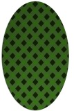 rug #1127775 | oval light-green check rug