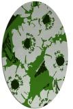 rug #1127815 | oval light-green rug