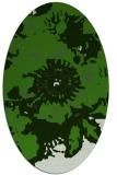rug #1127935 | oval light-green rug