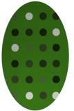 rug #1127955 | oval green circles rug