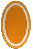rug #112801 | oval plain light-orange rug