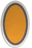rug #112805 | oval white borders rug