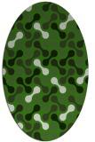 rug #1128055 | oval light-green rug