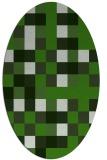 rug #1128395 | oval light-green rug