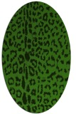 rug #1128435 | oval light-green rug