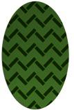 rug #1128535 | oval light-green rug