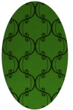 rug #1128575 | oval light-green rug