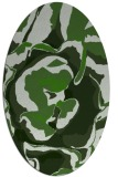 rug #1128615 | oval green abstract rug