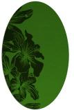 rug #1128775 | oval light-green rug
