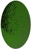 rug #1128855   oval green animal rug