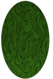 rug #1128875 | oval green abstract rug