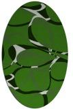 rug #1128895 | oval light-green rug