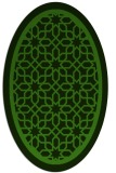 rug #1129035 | oval green geometry rug