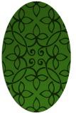 rug #1129335   oval light-green damask rug