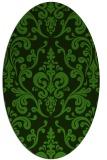 rug #1129395 | oval green traditional rug