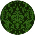 rug #1129403   round green traditional rug