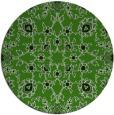rug #1129423 | round light-green damask rug