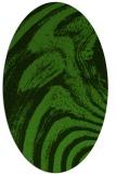 rug #1129455 | oval light-green rug