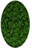 rug #1129495 | oval light-green rug