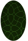 rug #1129535 | oval green abstract rug