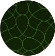 rug #1129543 | round green graphic rug