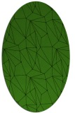 rug #1129575 | oval green abstract rug