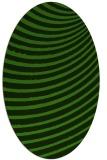 rug #1129615 | oval green circles rug