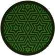 rug #1129823 | round green graphic rug