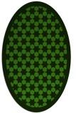 rug #1129875 | oval green borders rug