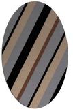rug #1130319 | oval brown stripes rug