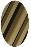 rug #1130323 | oval black stripes rug
