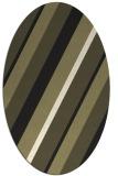 rug #1130327 | oval black stripes rug