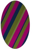 rug #1130347   oval blue stripes rug