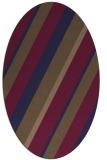rug #1130407 | oval blue-violet stripes rug