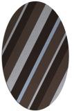 rug #1130411   oval blue-violet stripes rug