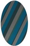 rug #1130434 | oval stripes rug