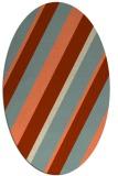 rug #1130519   oval beige stripes rug
