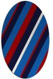 rug #1130559 | oval red stripes rug