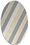 rug #1130607   oval beige stripes rug